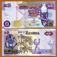 Zambia, 5 Kwacha, 2012 (2013), P-50a, UNC > New Revalued Currency