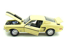 FORD MUSTANG GT COBRA JET 1968 LIGHT YELLOW MAISTO # 31167 1/18 SPECIAL EDITION