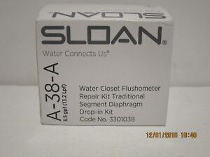 GENUINE SLOAN WATER CLOSET FLUSHOMETER REPAIR KIT, A-38-A FREE SHIP-NIB 3301102!