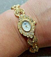 orologio quarzo vintage donna con bracciale filigrana oro - FUNZIONANTE