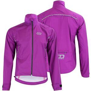 Didoo Womens Waterproof Cycling Jacket Running Reflective Windproof Ladies Coat