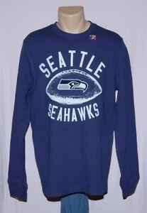 Seattle Seahawks Waffle Long Sleeve Shirt Blue - NFL Junk Food Clothing Co.