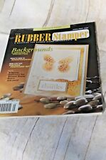 RUBBER STAMPER Magazine Scrapbooking, Crafts, Stamping Ideas April 2003