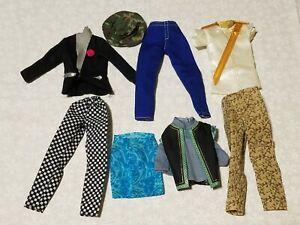 Lot #4- Ken doll GI Joe shoes shirts shorts clothes