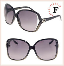 67e0f3cd7932d GUCCI 3500 Black Grey Translucent Oversized Heart Logo Sunglasses GG0506