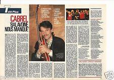 Coupure de presse Clipping 1989 Balavoine par Cabrel    (2 pages)