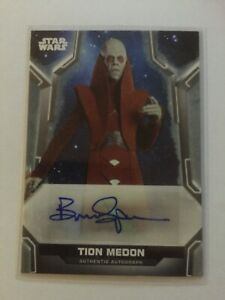 Star Wars Topps 2020 Holocron, Autograph Card, BRUCE SPENSE  as  TION  MEDON