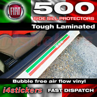 Fiat 500 Sill protectors hard wearing vinyl decal stickers