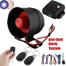 Car Vehicle Auto Burglar Alarm Keyless Entry Security System with 2 Remote Usps