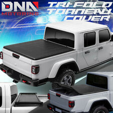 FOR 2020 JEEP GLADIATOR JT PICKUP BED TOP SOFT FOLDING TRI-FOLD TONNEAU COVER