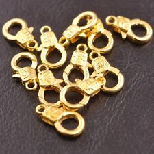Gold Silver Plated Bronze Charms Irregular pattern Lobster Clasps 17x10MM B3135