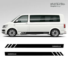 Volkswagen VW Caravelle Transporter Side Stripe Decals T4 T5 T6 Vehicle Graphic