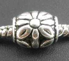 30 Perles intercalaires sculptées Fleur Pr Bracelet Charms 10x8mm