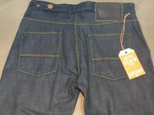 124 MENS SUPERDRY 'GAS' STRAIGHT DARK BLUE JEANS SZE 31 NWT, $150 RRP.