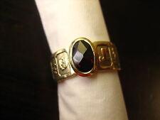 Unikat Granatring Ring Sternzeichen Granat Gold UNIKAT
