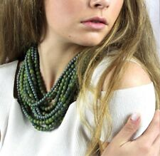 FAIRCHILD BALDWIN Adriana MARBLE MOSS Long multi-strand Necklace Limited Edition