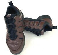 Easy Spirit Trail Womens Walking Shoes Ankle Hiking Brown Leather Lace Up Size 6