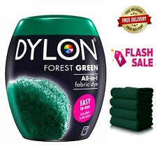 DYLON Washing Machine Dye Pod Forest Green 350G Permanent Fabric Powder