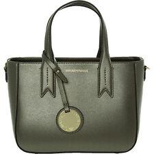 Genuine EMPORIO ARMANI Mini Tote Bag MINIDOLLARO, Steel/Black