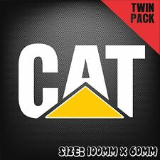 2x CAT CATERPILLAR Sticker Decal Car Truck Mining Funny 4X4 Ute 4WD Construction