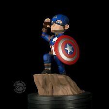 QMX QFig Marvel: Civil War Captain America pvc figure Diorama Brand New Sealed