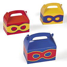 48 SUPERHERO  PARTY TREAT BOXES FAVORS GOODY BAG  PRIZE GIFT BASKET SUPER HERO