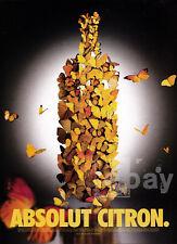 Absolut Citron vodka print ad 2000 butterflies
