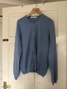 Lochmere EWM 100% Cashmere Cardigan Size L