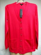 Talbots Petite Dark Pink Cotton Blend Cardigan Long Sleeve Sweater SZ PP NWT