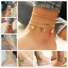 Chain Heart Beads Butterfly Colorful Various Styles Anklet Ankle Bracelet Foot