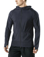 TSLA Men's UPF 50+ Long Sleeve Sun Protection Hoodie, Zip Front  UV/SPF Shirts