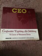 NEW SEALED Vintage CEO-Corporate Entities & Oddities Board Game