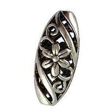 10 PCS Tibetan Silver Floral Ornamate Oval Beads A12559