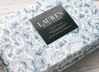 Ralph Lauren King Duvet Cover Set Floral Paisley blue white ivory 2 Shams New