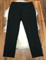 Women's Lafayette 148 New York Irving Wool Dress Pants Dark Gray Career sz 10 ~Z
