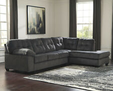 Modern Style Sectional Sofa in Granite Gray Fabric - FREE SHIPPING