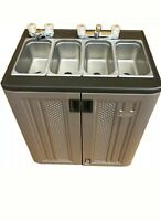 Portable Sink Mobile Concession compartment hot &  rm temp water - 4 compartment