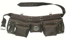 11 Pocket Oil Tanned Leather Tool Pouch Bag Belt / Tool Rig