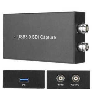 SDI USB3.0 Video Capture 1080P 60fps HD Recorder Box For PS4 Winds Mac Streaming