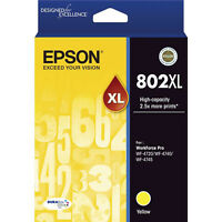 GENUINE Original Epson 802XL Yellow High Capacity Ink Cartridge Toner T356492