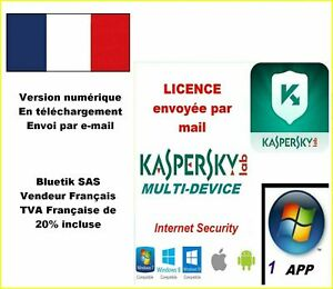 Kaspersky Internet Security Multidevice 2021 - 1 App 1 An Licence par mail - ESD