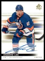 2019-20 UD SP Authentic Limited Auto Parallel #34 Anders Lee New York Islanders