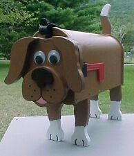 �� Brown Dog Mailbox Custom Animal Mailboxes Postal Mail Box Dog