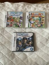 My Sims Nintendo DS Games Bundle - My Sims / My Sims Kingdom / My Sims Agents
