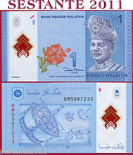 MALAYSIA - MALESIA - 1 RINGGIT 2011 (2012) -  POLYMER  -  P  51  -  FDS / UNC