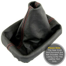 FITS VW CADDY MK3 2K 2003 - Present GEAR GAITER REAL LEAHER RED STITCHING