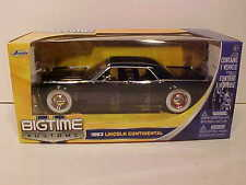 1963 Ford Lincoln Continental Diecast Car 1:24 Jada Toys 8inch BLACK White Wall