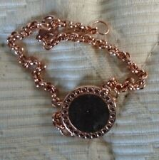 "Muru Red Gold Vermeil Sterling Silver ""Ancient Coin"" 6 1/2""-7 1/2"" Bracelet"