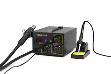 ES-YIHUA 852D HOT AIR REWORK STATION WITH SOLDERING IRON NEW 220V