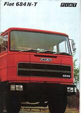 Fiat 684 N 684 T Truck Original UK Sales Brochure 1970s Pub. No. 3558